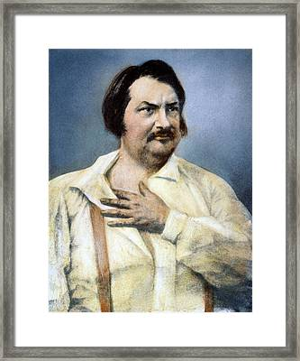 Honore De Balzac (1799-1850) Framed Print by Granger