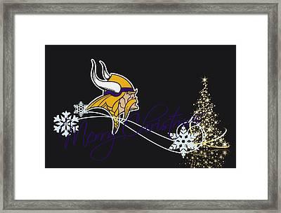 Minnesota Vikings Framed Print by Joe Hamilton