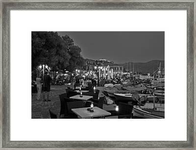 Molyvos Village Framed Print by George Atsametakis