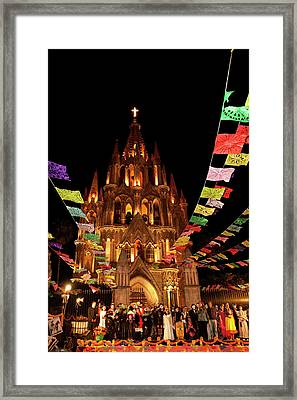 North America, Mexico, San Miguel De Framed Print by John and Lisa Merrill