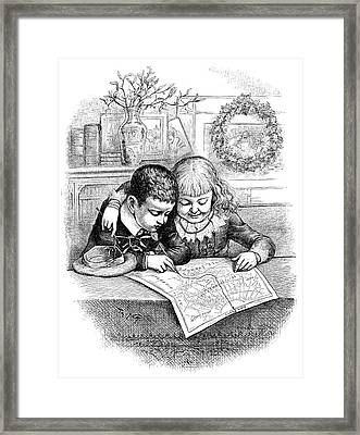 Thomas Nast Christmas Framed Print by Granger