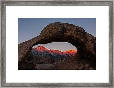 Usa, California, Alabama Hills Framed Print by Jaynes Gallery