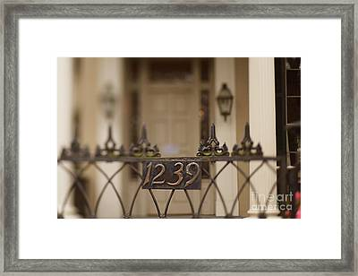1239 Gate Framed Print by Heather Green