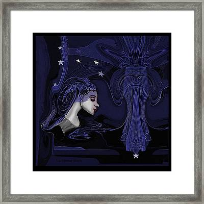 128 - Melancholia ... Framed Print by Irmgard Schoendorf Welch