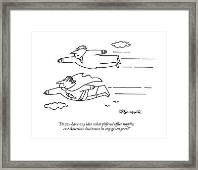 Untitled Framed Print by Charles Barsotti