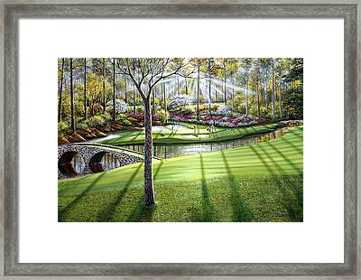 12th At Augusta National Framed Print by Raymond Sipos