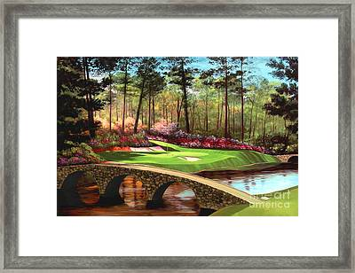 12th Hole At Augusta  Framed Print by Tim Gilliland