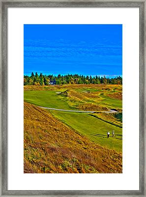 #13 At Chambers Bay Golf Course - Location Of The 2015 U.s. Open Tournament Framed Print by David Patterson
