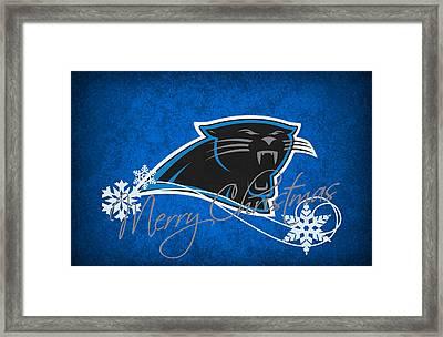 Carolina Panthers Framed Print by Joe Hamilton