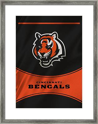Cincinnati Bengals Uniform Framed Print by Joe Hamilton