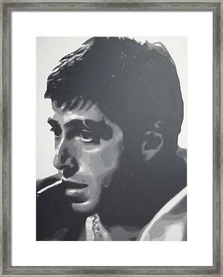 Scarface Framed Print by Luis Ludzska