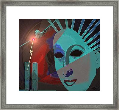 132 - Nine Eleven In My Mind Framed Print by Irmgard Schoendorf Welch