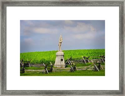 132 Pennsylvania Volunteer Infantry - Antietam Maryland Framed Print by Bill Cannon