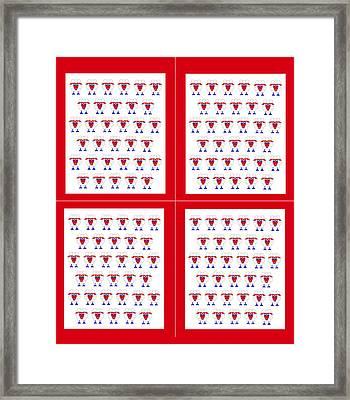 132 Sleep Sheep Framed Print by Asbjorn Lonvig