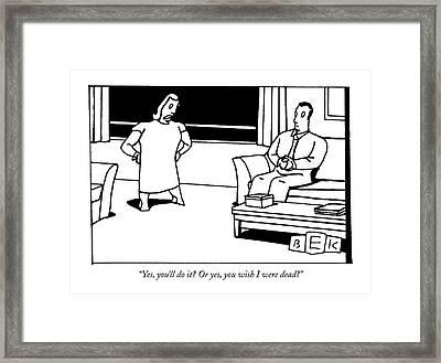Untitled Framed Print by Bruce Eric Kaplan