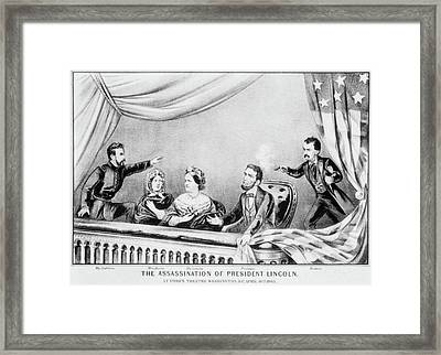 Lincoln Assassination Framed Print by Granger