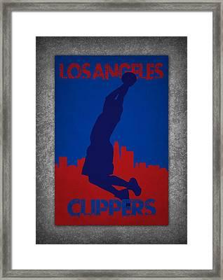 Los Angeles Clippers Framed Print by Joe Hamilton