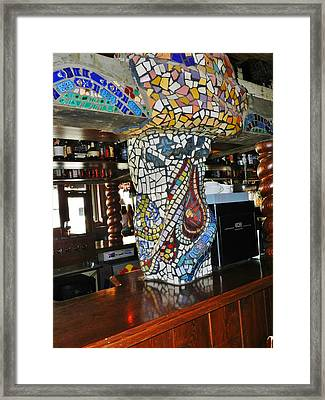 Mosaic Pillar Framed Print by Charles Lucas