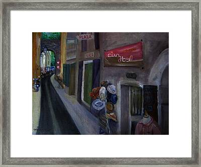 14 Rue De La Commune Provence France Framed Print by Maria Milazzo