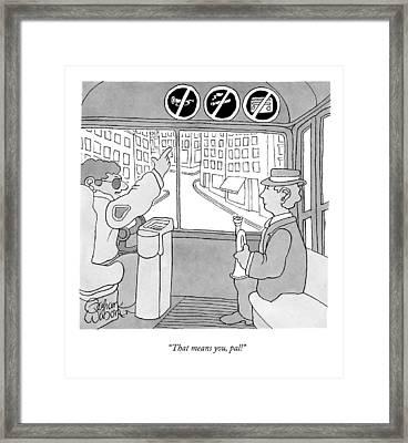 Untitled Framed Print by Gahan Wilson