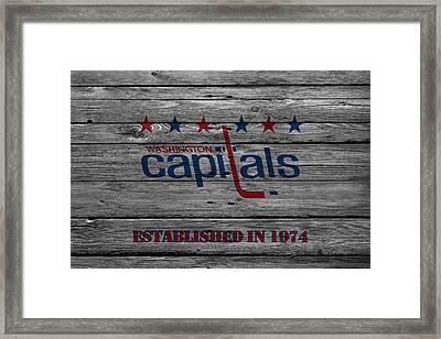 Washington Capitals Framed Print by Joe Hamilton