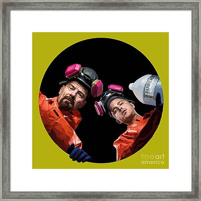 149 - Blue Meth Framed Print by Tam Hazlewood