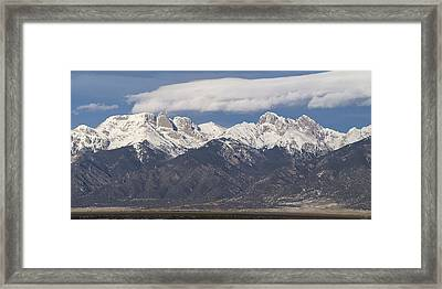 14er Panorama Framed Print by Aaron Spong