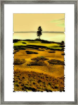 #15 At Chambers Bay - Location Of The 2015 Us Open Framed Print by David Patterson