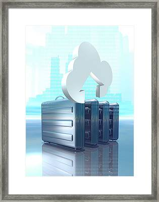 Cloud Computing Conceptual Artwork Framed Print by Victor Habbick Visions