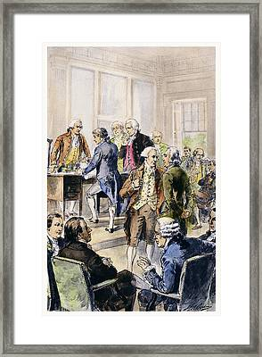 Declaration Of Independence Framed Print by Granger