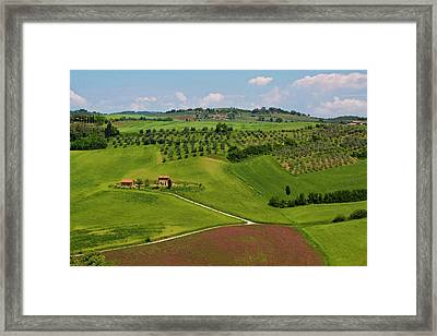 Europe, Italy, Tuscany Framed Print by Terry Eggers