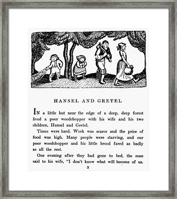 Grimm Hansel And Gretel Framed Print by Granger