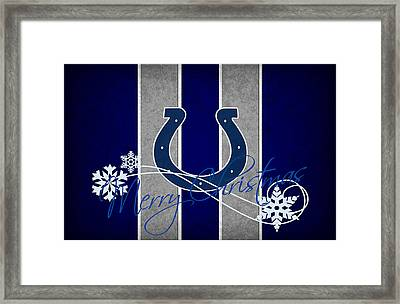Indianapolis Colts Framed Print by Joe Hamilton
