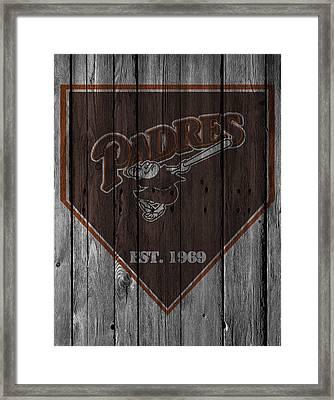 San Diego Padres Framed Print by Joe Hamilton