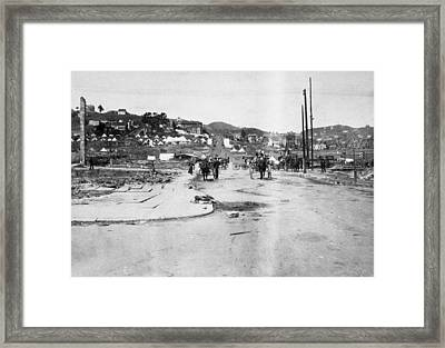 San Francisco Earthquake Framed Print by Granger