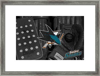 San Jose Sharks Framed Print by Joe Hamilton