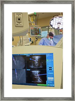 Spine Surgery Framed Print by Jim West