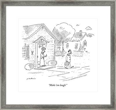 Untitled Framed Print by Michael Maslin