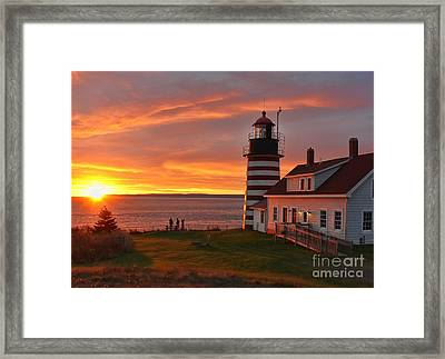 West Quoddy Head Lighthouse Framed Print by Jack Schultz