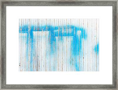 Wood Background Framed Print by Tom Gowanlock