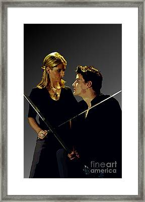 150 - A And B Framed Print by Tam Hazlewood