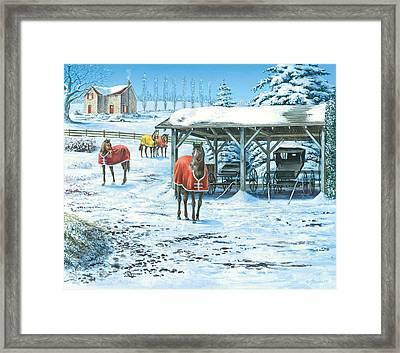 Brisk Winter Days Framed Print by John Bindon