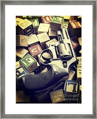 154 Bullets In 5 Minutes Framed Print by Edward Fielding