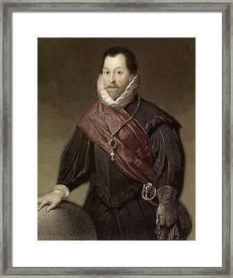 1580 Sir Francis Drake Tudor Explorer Framed Print by Paul D Stewart