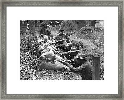 15th Infantry Prepares For War Framed Print by Underwood Archives