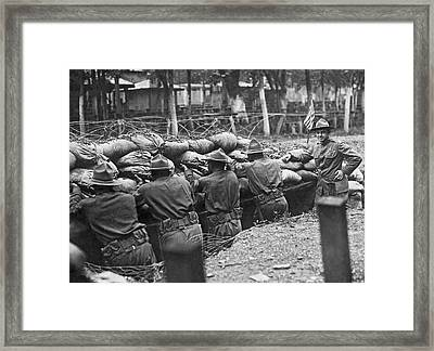 15th Regiment Rifle Training Framed Print by Underwood Archives