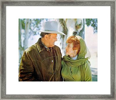 John Wayne Framed Print by Silver Screen