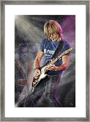 Keith Urban Framed Print by Don Olea
