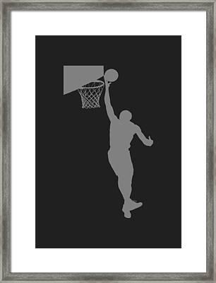 Nba Shadow Player Framed Print by Joe Hamilton