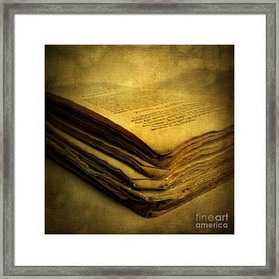Old Book Framed Print by Bernard Jaubert